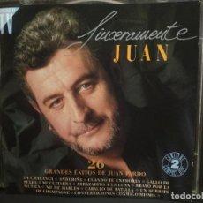CDs de Música: JUAN PARDO / SINCERAMENTE JUAN / GRANDES ÉXITOS / LO MEJOR DE / HISPAVOX / 2 CD PEPETO. Lote 218751316