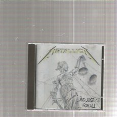 CDs de Música: METALLICA AND JUSTICE FOR ALL. Lote 218814946