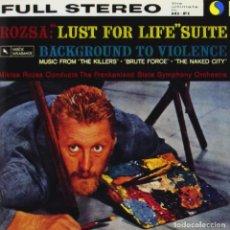 CDs de Música: LUST FOR LIFE (SUITE) + BACKGROUND TO VIOLENCE / MIKLÓS RÓZSA CD BSO - VARESE. Lote 218847616