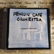 CD di Musica: PENGUIN CAFE ORCHESTRA - CONCERT PROGRAM (2XCD, ALBUM) (ZOPF) ZOPFD 002 (D:NM). Lote 218856700