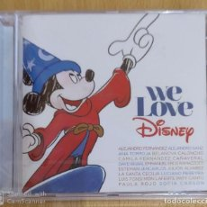 CDs de Música: WE LOVE DISNEY - CD 2016 (ALEJANDRO SANZ, ANA TORROJA, LUIS FONSI, EROS RAMAZZOTTI, DAVID BISBAL...). Lote 218883923