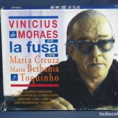 CDs de Música: VINICIUS DE MORAES CON MARÍA CREUZA Y TOQUINHO - 2 CD. Lote 218916445