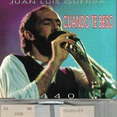 CDs de Música: JUAN LUIS GUERRA 4.40 - CUANDO TE BESO (TWO VERSIONS) (CDSINGLE CAJA, KAREN MUSIC 1993). Lote 218920463