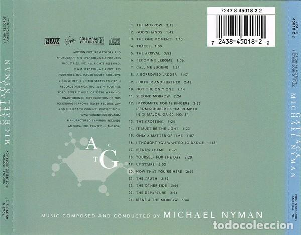 CDs de Música: GATTACA / Michael Nyman CD BSO - Foto 2 - 219029342