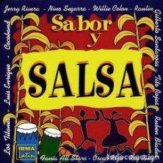 CDs de Música: SABOR Y SALSA. RECOPILATORIO. DOBLE CD.. Lote 219078165