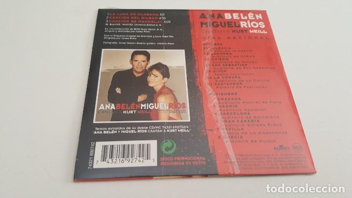 CDs de Música: ANA BELÉN MIGUEL RIOS CD single carton Cantan a Kurt Weill con la OCG - Foto 2 - 219088803