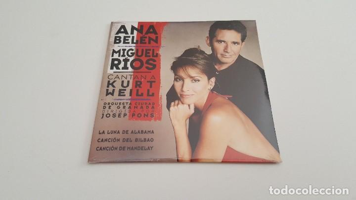 ANA BELÉN MIGUEL RIOS CD SINGLE CARTON CANTAN A KURT WEILL CON LA OCG (Música - CD's Otros Estilos)