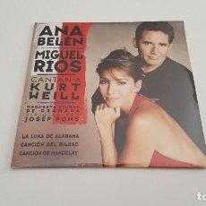 CDs de Música: ANA BELÉN MIGUEL RIOS CD SINGLE CARTON CANTAN A KURT WEILL CON LA OCG. Lote 219088803