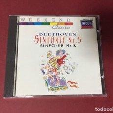 CDs de Música: CD DECCA BEETHOVEN SINFONIE Nº 5 Y 8 SINFONIA 5 Y 8. Lote 219142615