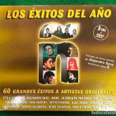 CDs de Música: LOS EXITOS DEL AÑO Ñ. 60 GRANDES EXITOS & ARTISTAS ORIGINALES / 3 CD´S + DVD DE 2006 RF-7809. Lote 219254196