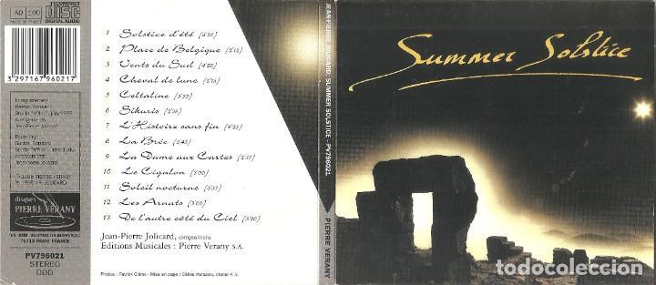 JEAN-PIERRE JOLICARD - SUMMER SOLSTICE (CD DIGIPACK, DISCOS PIERRE VERANY 1996) (Música - CD's New age)