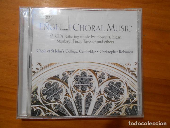 CD ENGLISH CHORAL MUSIC (2 CD'S) (5R) (Música - CD's Clásica, Ópera, Zarzuela y Marchas)