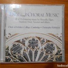 CDs de Música: CD ENGLISH CHORAL MUSIC (2 CD'S) (5R). Lote 219320168