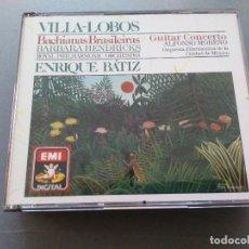CDs de Música: VILLA-LOBOS - BARBARA HENDRICKS, ROYAL PHIL. ORCHESTRA, ENRIQUE BATIZ - BACHIANAS BRASILEIRAS 3XCD. Lote 219327578