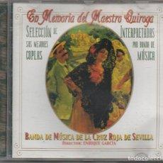 CDs de Música: EN MEMORIA DEL MAESTRO QUIROGA - BANDE DE MUSICA CRUZ ROJA SEVIILLA / CD DE 1999 RF-7844. Lote 219331575