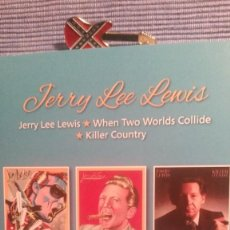CDs de Música: JERRY LEE LEWIS. 3 ALBUMS. JERRY LEE LEWIS +WHEN TWO WORLDS COLLIDE + KILLER COUNTRY. Lote 219343645