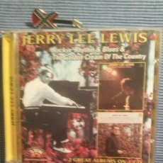 CDs de Música: JERRY LEE LEWIS. ROCKIN´RYTHM AND BLUES + THE GOLDEN CREAM OF THE COUNTRY. Lote 219343888