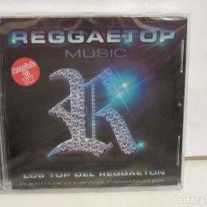 CDs de Música: REGGAETOP MUSIC - LOS TOP DEL REGGAETON - 2 X CD - DJ KUN, CHERRY.... 2005 - NUEVO. Lote 219377181