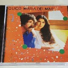 CDs de Música: QUICO - MARIA DEL MAR / CD - ARIOLA-1996 / 10 TEMAS / CALIDAD LUJO / DIFÍCIL.. Lote 219378030