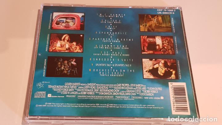 CDs de Música: B.S.O. !! TEENAGE MUTANT NINJA TURTLES / CD - SBK RECORDS / CALIDAD LUJO. - Foto 3 - 219385086