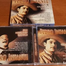 CDs de Música: PEDRO INFANTE / 24 GRANDES ÉXITOS / PACK-DOBLE CD - MEDITERRANEO MUSIC / CALIDAD LUJO.. Lote 219416682