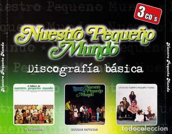 NUESTRO PEQUEÑO MUNDO (DISCOGRAFIA BÁSICA: EL FOLKLORE DE + BUENAS NOTICIAS+ UNO A UNO (3 CDS) (Música - CD's Country y Folk)