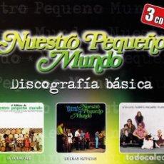 CDs de Música: NUESTRO PEQUEÑO MUNDO (DISCOGRAFIA BÁSICA: EL FOLKLORE DE + BUENAS NOTICIAS+ UNO A UNO (3 CDS). Lote 219429291