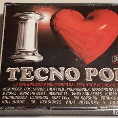 CDs de Música: I LOVE TECNO POP / BOX-TRIPLE CD - BLANCO Y NEGRO / 38 TEMAS / EN CALIDAD LUJO.. Lote 219491226