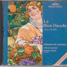 CD de Música: LA BIEN AMADA - JOSE PADILLA (CD EGT 1995) GRABACION EN DIRECTO PALAU DE LA MUSICA VALENCIA. Lote 252193850