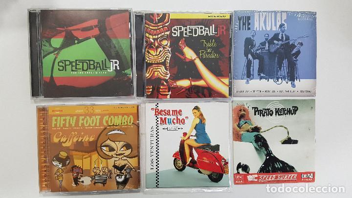 LOTE 6 CD SURF MUSIC BÉLGICA. FIFTY FOOT COMBO VENTURAS SPEEDBAL JR AKULAS PIRATO KETCHUP (Música - CD's Rock)