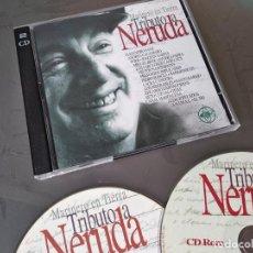 CDs de Música: TRIBUTO A PABLO NERUDA - MARINERO EN TIERRA - 2 CD CALAMARO SABINA ATERCIOPELADOS MIGUEL BOSÉ. Lote 269013104