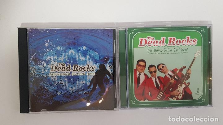 LOTE 2 CDS THE DEAD ROCKS. BANDA GARAGE ROCK SURF MUSIC INSTRUMENTAL DE BRASIL. SURF MUSIC MADRID (Música - CD's Rock)