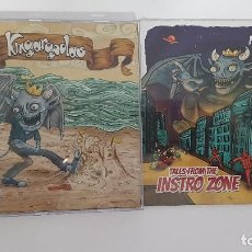 CDs de Música: LOTE 2 CDS KINGARGOOLAS. GARAGE ROCK SURF MUSIC INSTRUMENTAL BANDA BRASIL. SURF MUSIC MADRID. Lote 219714350