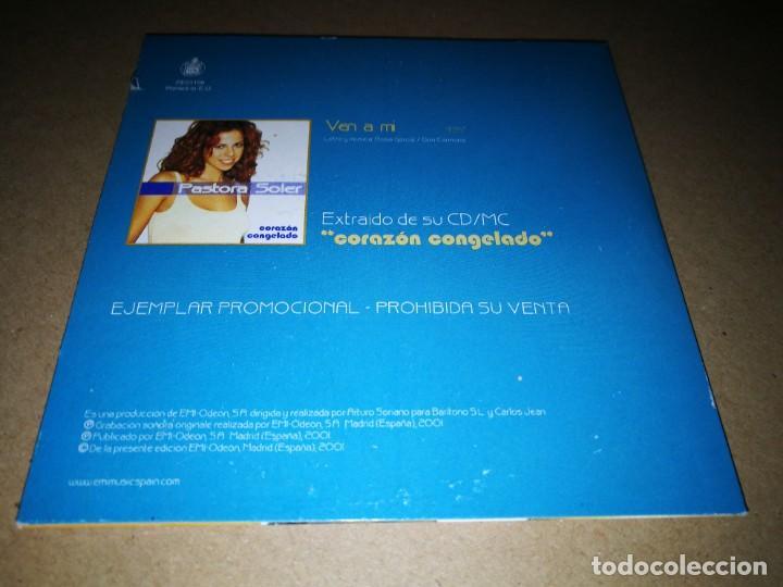 CDs de Música: PASTORA SOLER Ven a mi CD SINGLE PROMOCIONAL CARTON AÑO 2001 1 TEMA CARLOS JEAN - Foto 2 - 219810480