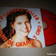 CDs de Música: PASTORA SOLER CAPOTE DE GRANA Y ORO CD SINGLE PROMOCIONAL DE CARTON AÑO 1995 1 TEMA LUIS SANZ. Lote 219810675