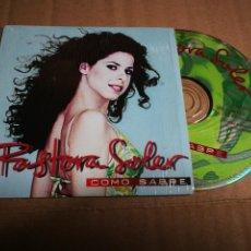 CDs de Música: PASTORA SOLER COMO SABRE CD SINGLE PROMOCIONAL CARTON VERSION DE EROS RAMAZZOTTI 1 TEMA 1996. Lote 219810787