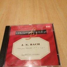 CDs de Música: J. S. BACH. SUITES PARA VILLONCHELO. N 1,4 Y 5. PAUL TORTELIER. BARROCO.. Lote 219846721