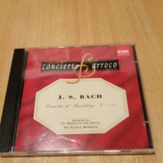 CDs de Música: J. S. BACH. CONCIERTOS DE BRANDEBURGO. N 46. ACADEMY ST MARTIN FIELDS. SIR N. MARRINER. BARROCO.. Lote 219847272