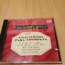 CDs de Música: CONCIERTOS PARA TROMPETA. HAENDEL. ALBINONI. TELEMANN. HERTEL. MAURICE ANDRE. BARROCO.. Lote 219848085