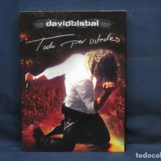 CDs de Música: DAVID BISBAL - TODO POR USTEDES - 2 DVD + CD. Lote 287901653