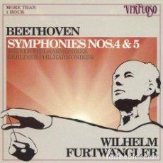 CDs de Música: CD- BEETHOVEN: SYMPHONIES NOS. 4 & 5 WILHELM FURTWÄNGLER. Lote 220026000