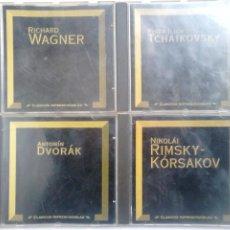 CDs de Música: LOTE CD MÚSICA CLÁSICA: DVORÁK, RIMSKY-KÓRSAKOV, TCHAIKOVSKY, WAGNER. Lote 107060443