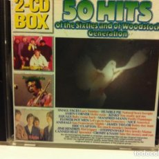 CDs de Música: 50 HITS OF THE SIXTIES AND OF WOODSTOCK GENERATION- 2 CD - 50 CANCIONES. Lote 220088138