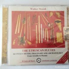 CDs de Música: WALTER MAIOLI CD + LIBRETA - THE ETRUSCAN FLUTE - NEW & SEALED.. Lote 220246538