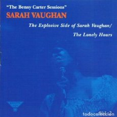 CDs de Música: SARAH VAUGHAN – THE BENNY CARTER SESSIONS, VOL. 2 - THE LONELY HOURS CD SOUL-JAZZ. Lote 220272548