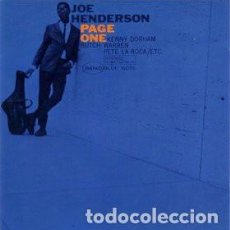 CDs de Música: JOE HENDERSON – PAGE ONE CD JAZZ. Lote 220280050