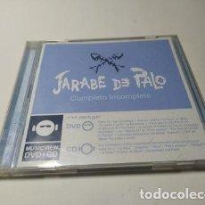 CD de Música: CD - MUSICA - JARABE DE PALO ?– COMPLETO INCOMPLETO ( CD + DVD ) - MUY RARO. Lote 220374076