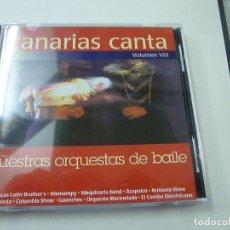 CDs de Música: CANARIAS CANTA. VOLUMEN VIII. NUESTRAS ORQUESTAS DE BAILE. CD MUSICA.- C 2. Lote 220403023