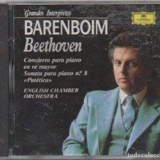 CDs de Música: BARENBOIM - BEETHOVEN. CONCIERTO PARA PIANO EN RE MAYOR / CD ALBUM / BUEN ESTADO RF-7965. Lote 220545950