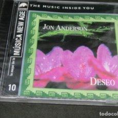 CDs de Música: CD - JON ANDERSON - DESEO - PRECINTADO - LO MEJOR DE LA MÚSICA NEW AGE 10 - THE MUSIC INSIDE YOU. Lote 220622606